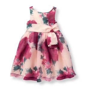Janie and Jack Floral Organza Dress